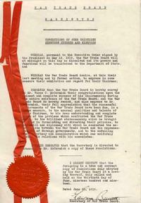 Intern steals War Documents
