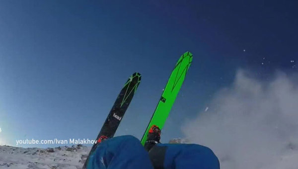 Russian skier survives crashing down steep mountain slopes in Austria. Video. 60000.jpeg