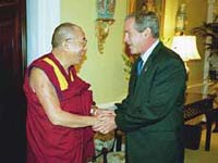 U.S. President rewards the Dalai Lama
