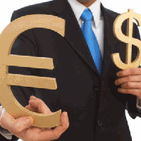 Euro rate rises slightly against dollar