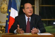 Chirac: proposed U.N. resolution on Iran does not automatically lead to use of force