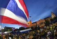 Thai police retreats from prime minister's office compound