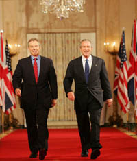 Bush and Blair say goodbye and look ahead to uncertain times