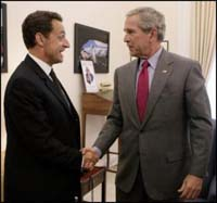 Bush, Sarkozy to meet on sidelines of G-8 summit