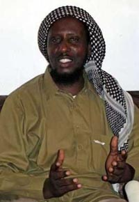 Officials say top Islamic leader in Somalia has turned himself in
