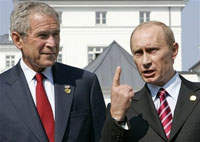 Putin offers Bush to move air defense system from Europe to Azerbaijan