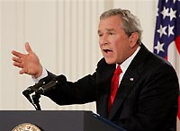 George W. Bush and South Korean leader in testy public exchange