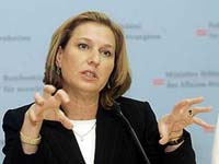 Israel's Livni to urge China to intensify Iran sanctions