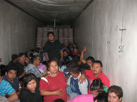 97 Illegal Immigrants Discovered inside Refrigerated Trailer in Arizona