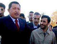 Hugo Chavez praises Iranian president for his firm anti-US stance
