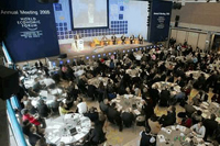 Political and business leaders gather for World Economic Forum meeting