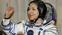 Russia launches first female tourist in space