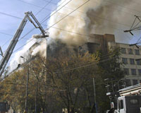 Fire kills seven students at Moscow institute