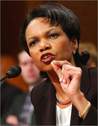 Condoleezza Rice meets with Europeans to discuss Lebanese political crisis