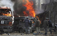 Bomb Attack Aimed at Police Chief Killed 12 in Afghanistan