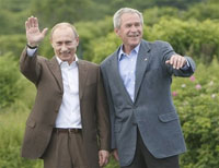 Putin and Bush agree to disagree respectfully in Kennebunkport