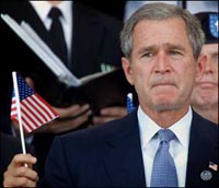 President Bush keeps state secrets in a wastebasket