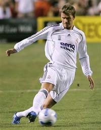 Beckham will play for Real Madrid against Zaragoza despite injury