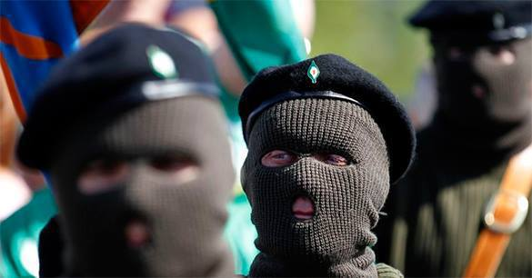Irish Republican Army out on the streets again. IRA