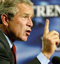 Bush praises new British government for its response to terrorist threats