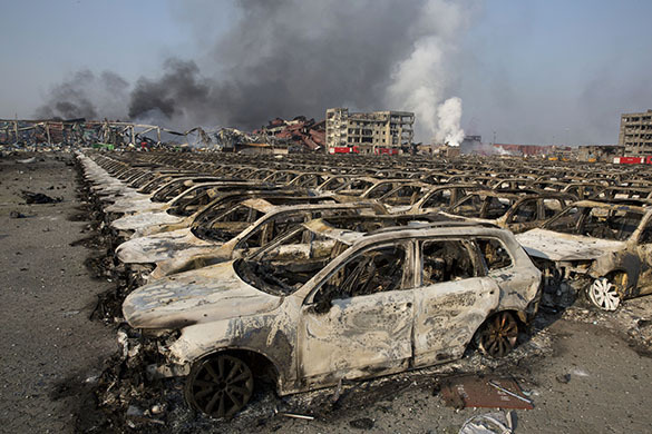 So what exploded in China on 12 August?. China