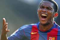Eto'o left off Barcelona's team for Copa del Rey