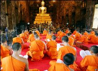 Thailand's Buddhist monks demand that Buddhism be made national religion.