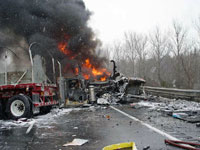 Interstate highway in Connecticut shut down because of fatal traffic accident