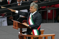 Mexico's leftist leader sworn in as legitimate president after losing elections