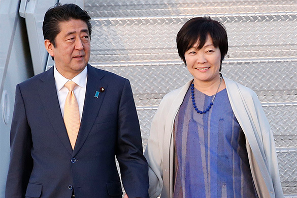 Japanese PM at the centre of a scandal. Abes