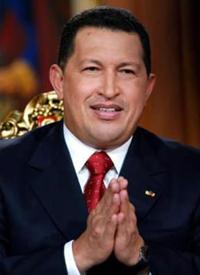 Venezuela's Chavez meets British trade union officials