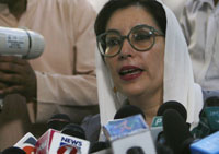Benazir Bhutto martyred and killed by gunman who blew himself up