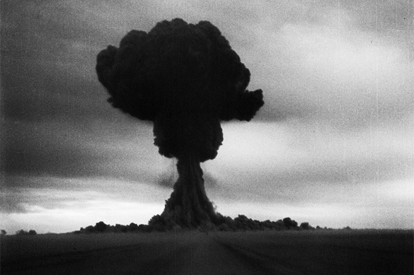 Atomic bomb is the only deterrent weapon. Explosion