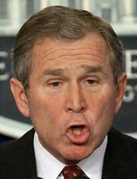 Bush takes no part in international affairs