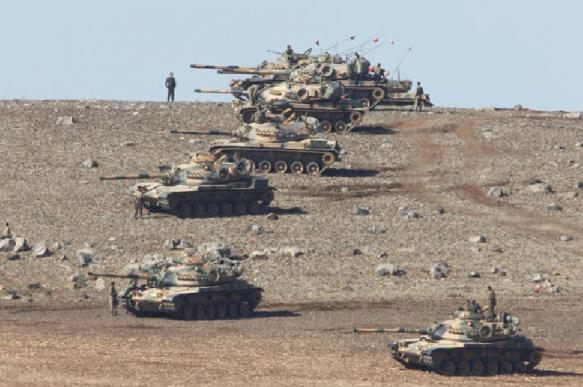 Turkish army crosses Syrian border. Syria