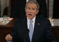 Bush delivers State of the Union speech trying to regain popularity