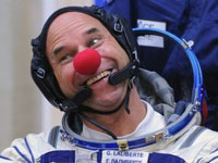 Guy Laliberte and Two Other Space Tourists  Are Back on Earth