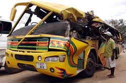 13 died and 40 injured in bus crash in Peru