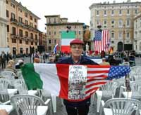 Protesters converge on Rome for demonstrations against Bush visit