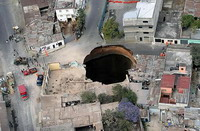 1 house destroyed and 5 others damaged by sinkhole in California