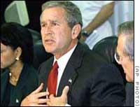 Bush speech draws criticism on Iraq, climate change