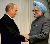 Russia, India strike new arms deals a day ahead of President Putin's visit