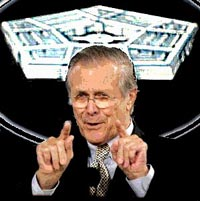 Donald Rumsfeld lets off steam