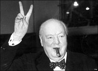 Winston Churchill's Cigar Stub Sold for 4500 Pounds