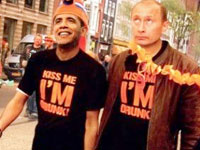 Putin too sober for 'Kiss Me I'm Drunk' campaign in Amsterdam