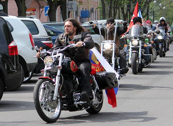 Night Wolves bikers: Menacing peace envoys from Russia to Europe. Night Wolves in Europe