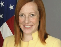 Jen Psaki blames militia for appearance of refugees in Russia. 53121.png
