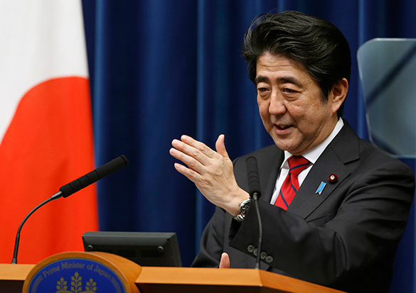 Japan builds up military budget and equipment. Shinzo Abe