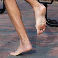 Running Barefoot to Reduced Stress on Feet