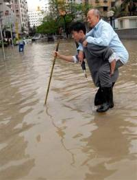 Flooding in south and central China, at least 34 people killed